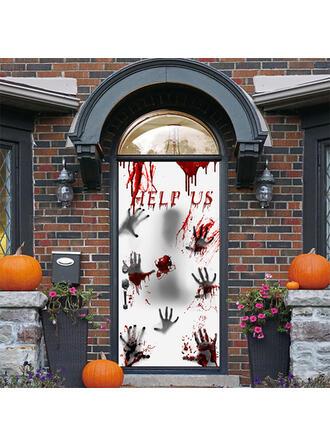 Horripilante Halloween Sangre PVC Decoraciones De Halloween Signo de porche