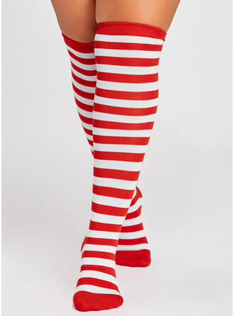 Striped Warm/Breathable/Women's/Christmas/Knee-High Socks Socks/Stockings