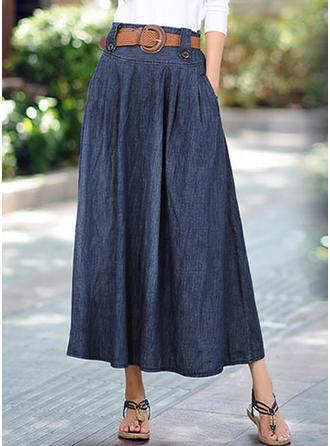 Cotton Plain Maxi A-Line Skirts