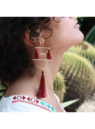 Boho Tassels Design Alloy Cotton String Women's Earrings