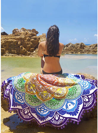 Retro /Vendimia/Borla/Bohemia Ligero/Multifuncional/Colorido/Hojas en forma/Libre de arena/Secado rápido toalla de playa