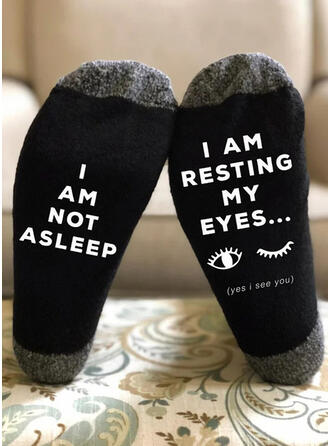 Letter/Stitching/Print Comfortable/Crew Socks/Unisex Socks
