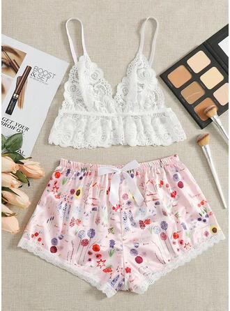 Polyester Lace Pyjama Set