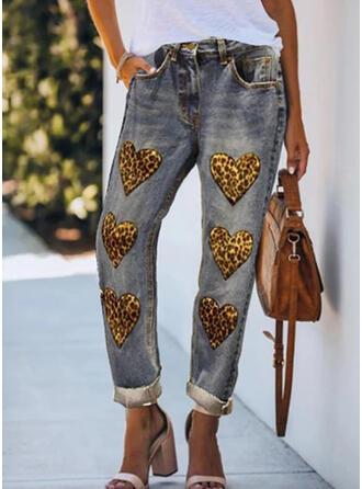 Patchwork Leopard Tribal Vintage Denim & Jeans