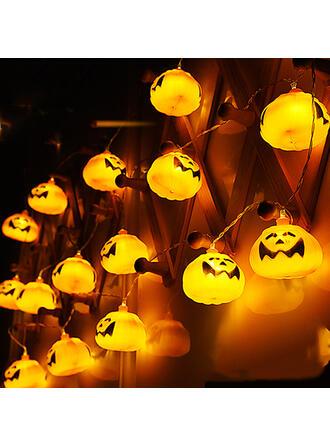 Horripilante Halloween Calabaza Plástico Decoraciones De Halloween Luces de cadena (Juego de 16)