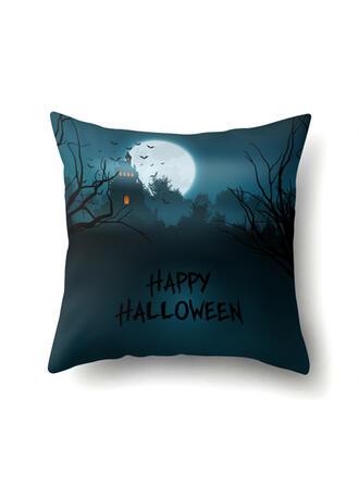 gótico Murciélago Halloween Calabaza poliéster Decoraciones De Halloween Fundas de almohada