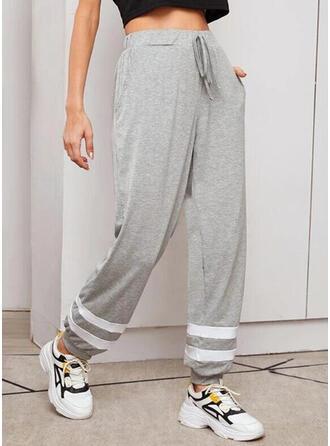 Cordón Largo Casual Deportivo Pantalones