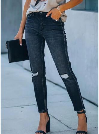 Ripped Elegant Vintage Denim & Jeans
