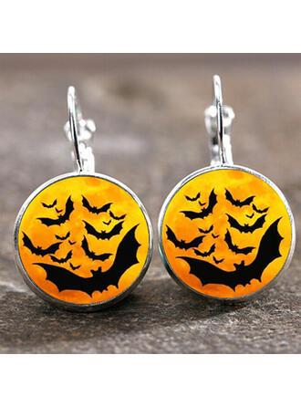 Cráneo Halloween Bruja Aleación Pendientes 2 piezas