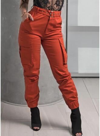 Bolsillos Fruncido Talla extra Largo Casual Tribal Pantalones