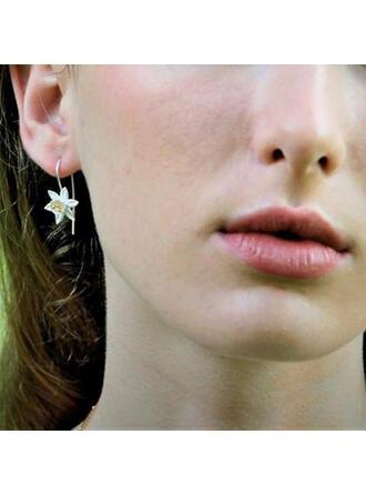 Beautiful Flowers Alloy Women's Earrings