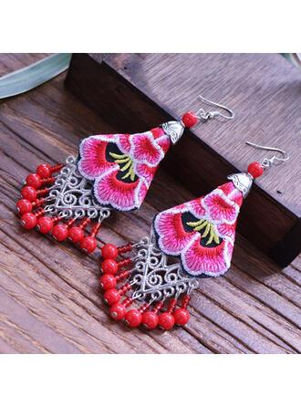 Colourful Boho Cloth Alloy Beads Women's Earrings