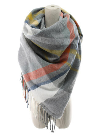Plaid/Tassel fashion/Multi-functional Scarf