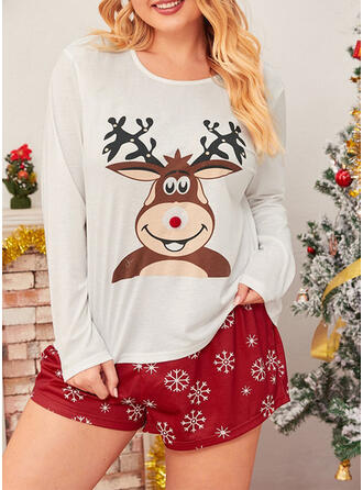 Cotton Long Sleeves Christmas Reindeer Pyjama Set