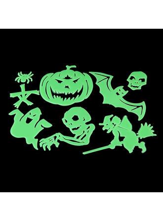 Horripilante Murciélago Halloween Fantasma Calabaza Esqueleto Plástico Pegatina Decoraciones De Halloween