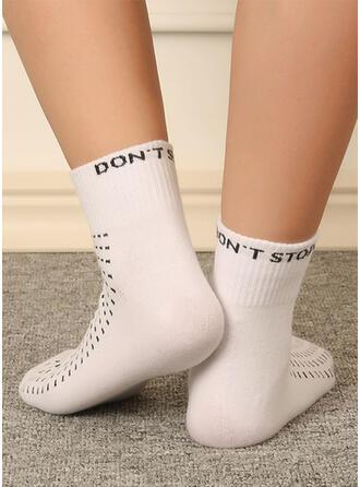 Letter/Print Breathable/Women's/Crew Socks Socks