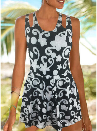 Floral Print Strap Amazing Exquisite Novelty Luxury Tankinis Swimsuits