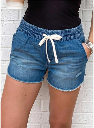 Bolsillos Cordón Por encima de la rodilla Casual Deportivo Juan Pantalones cortos