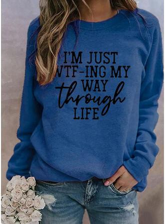 Figure Round Neck Long Sleeves Sweatshirt