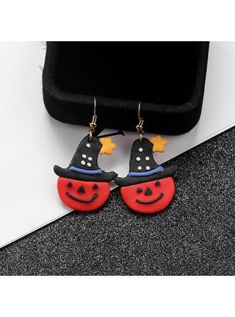 Halloween Calabaza Fantasma Aleación Plástico Pendientes 2 piezas