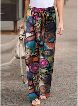 estampado geométrico Largo Boho Casual Impresión Pantalones