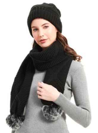 Crochet Warm/Tie-Dye/Skin-Friendly/Simple Style/Soft Scarf/Hats 2 PCS