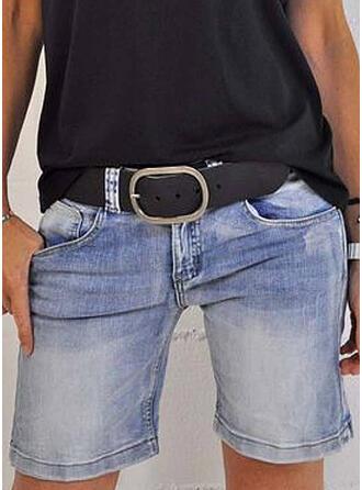 Denim Above Knee Pants Shorts Denim & Jeans