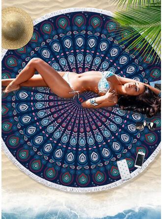 Floral/Retro /Vendimia/Borla/Bohemia/Geométrico/Colorido redondo/Multifuncional/Libre de arena/Secado rápido toalla de playa