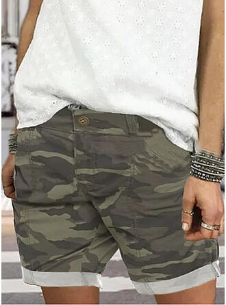 Camouflage Tribal Above Knee Pants Shorts