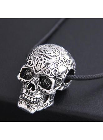 Cráneo Halloween Aleación Cuerda trenzada Collares