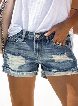Ripped Sexy Denim Shorts