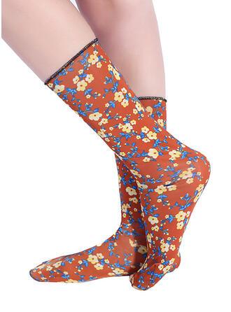 Floral Breathable/Women's/Crew Socks Socks