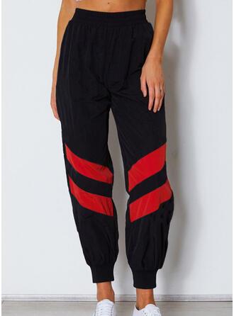 Fruncido Largo Casual Deportivo Pantalones