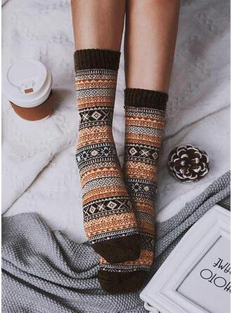 Geometric Print Warm/Comfortable/Women's/Crew Socks Socks