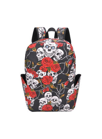 Floral/Super conveniente/Halloween/Cráneo/Horripilante Mochilas