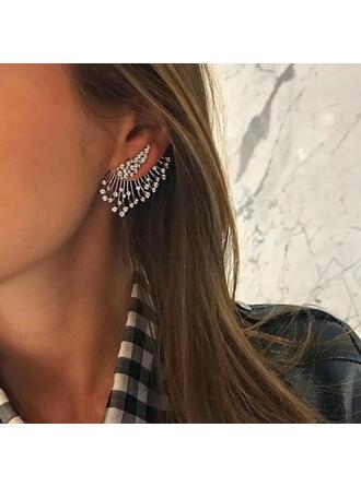 Shining Chic Alloy Rhinestones Women's Earrings
