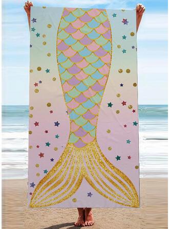 Ligero/atractivo/Multifuncional/Sin Costura/Libre de arena/Secado rápido/Diseñado animales toalla de playa