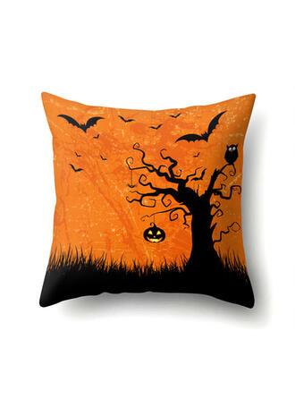 gótico Murciélago Halloween Fantasma Calabaza poliéster Decoraciones De Halloween Fundas de almohada